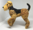 Needle felted Airedale Terrier